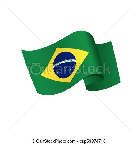 450x470 Brazil Flag, Vector Illustration On A White Background Vector Clip