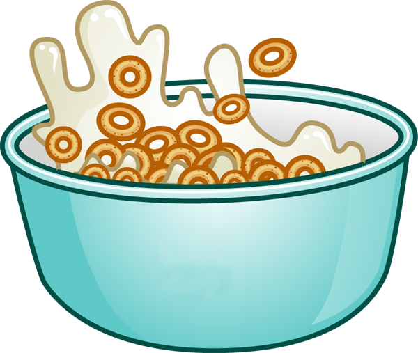 600x507 Clip Art Of Breakfast Foods Eat Breakfast, Cereal Bowls And Cereal