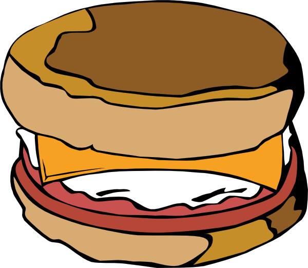600x522 Egg On Muffin Clip Art