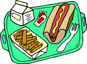 355x263 Tray Of Food Clipart