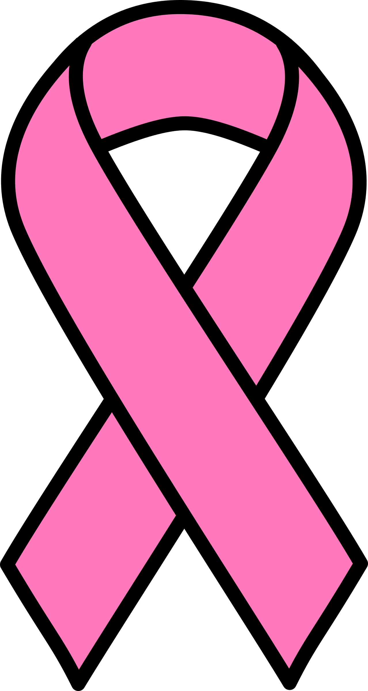 1278x2400 Pink Breast Cancer Ribbon Clipart