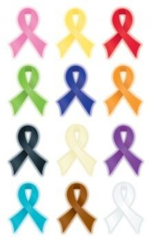 221x350 Diabetes Awareness Month Grey Ribbon 1.2 Classic Round Sticker