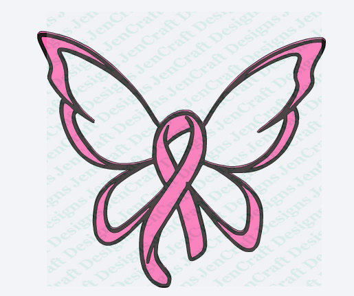 515x431 Breast Cancer Ribbon With Wings Clipart