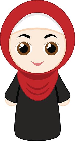 303x570 Girl Hijab Clipart