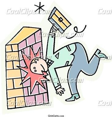 367x383 Wall Clip Art Hitting Head Brick Wall Clipart