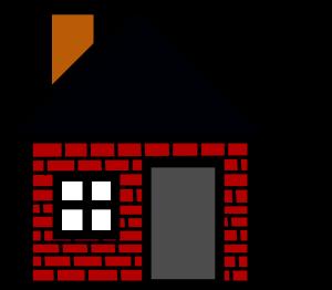 300x262 Brick House Clipart Brick House Clip Art