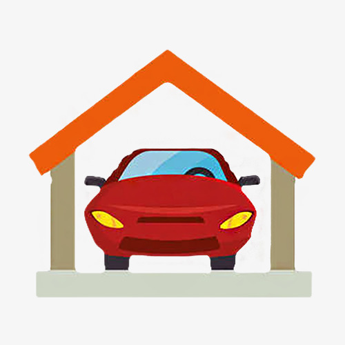 500x500 Garage House, Parking Garage, Red Brick Png Image And Clipart