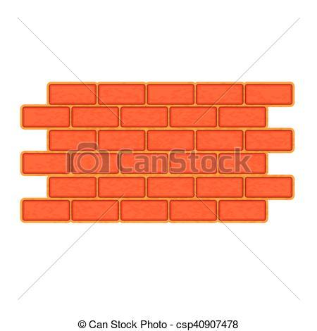 450x470 Brick Wall Icon, Flat Style. Brick Wall Icon. Flat Vectors
