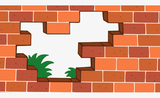 650x400 Flat Wind Vector Red Brick Wall And Grass, Bianpingfeng, Red Brick