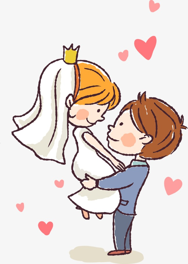 650x912 Cartoon Bride And Groom, Cartoon, Marry, Wedding Png And Vector