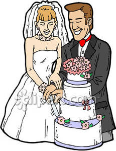 231x300 A Bride And Groom Cutting The Cake