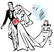 178x172 Bride And Groom Clipart