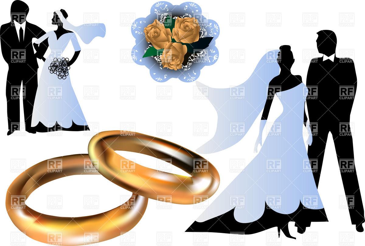 1200x808 Bride And Bridegroom Silhouettes Royalty Free Vector Clip Art