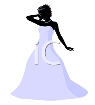 318x350 Silhouette Of A Bride