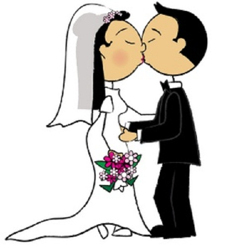 500x500 Bride And Groom Clipart Clipartmonk