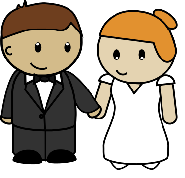 378x362 Clipart Bride And Groom