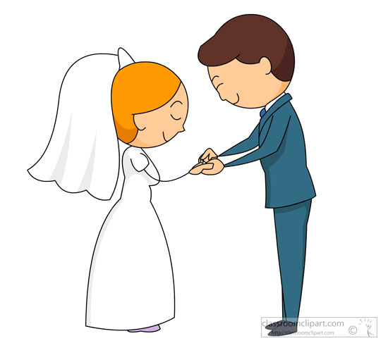 550x494 Special Occasions Clipart Bride Groom Taking Vows Clipart 5720