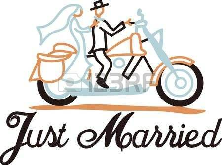 450x335 Wedding Bride And Groom Motorcycle Clipart