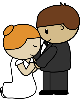 343x405 Fresh Cartoon Bride And Groom