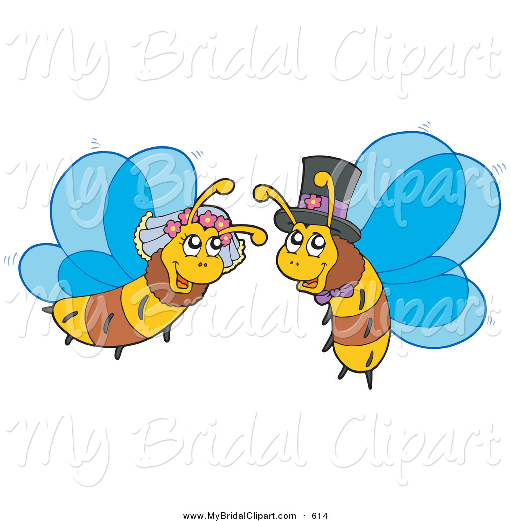 1024x1044 Bridal Clipart Of A Honey Bee Bride And Groom, In Love By Visekart