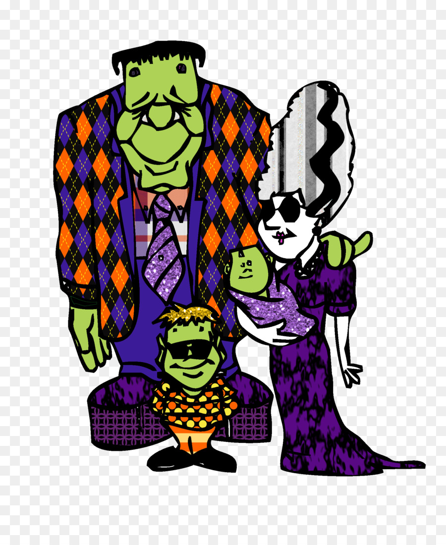 900x1100 Frankenstein's Monster Halloween Clip Art