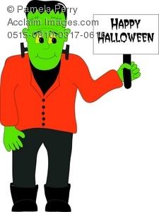 225x300 Frankenstein Clipart Halloween Monster