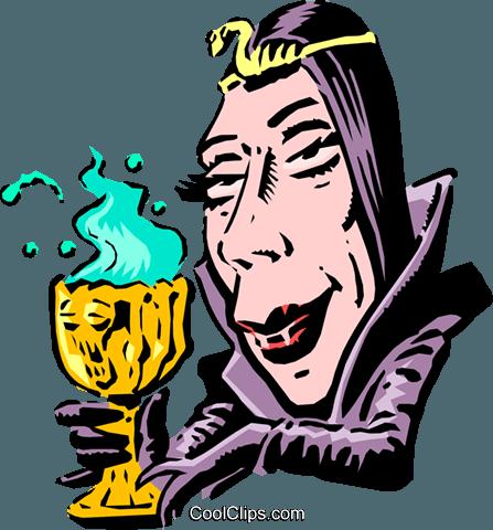 447x480 Cartoon Bride Of Frankenstein Royalty Free Vector Clip Art