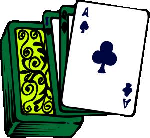 300x277 Bridge Playing Cards Clipart Kid