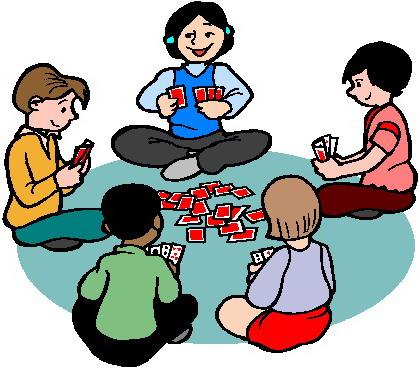 419x367 Clipart Bridge Card Players