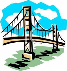 286x300 Royalty Free Clipart Image The Golden Gate Bridge