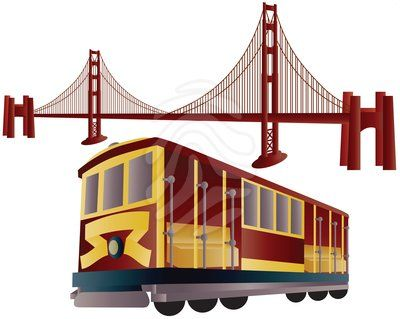 400x319 Simple San Francisco Clipart