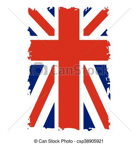 450x470 British Flag Vertical Grunge. British Flag Vertical. Grunge