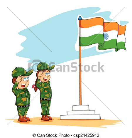 450x470 Indian Soldier Salute Clipart