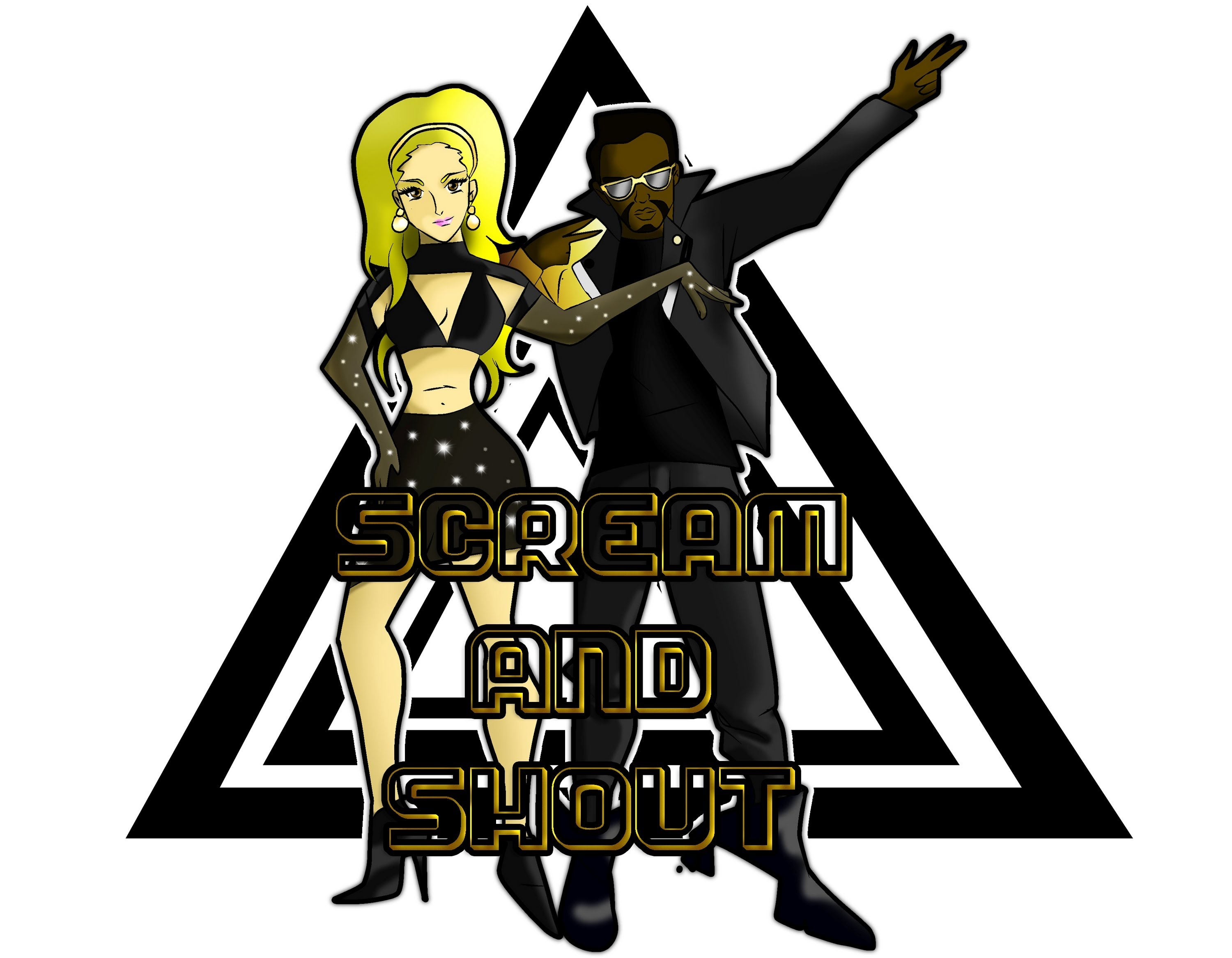 3000x2334 Speed Art Will.i.am Amp Britney Spears (Scream And Shout)
