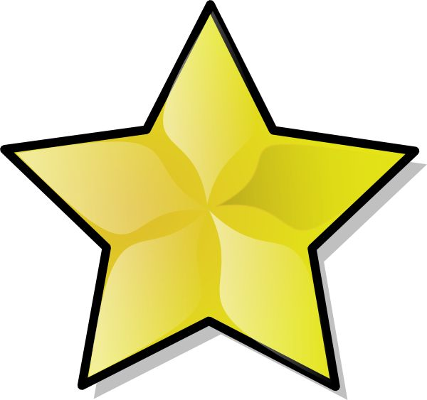 600x563 Broadway Star Clipart Collection