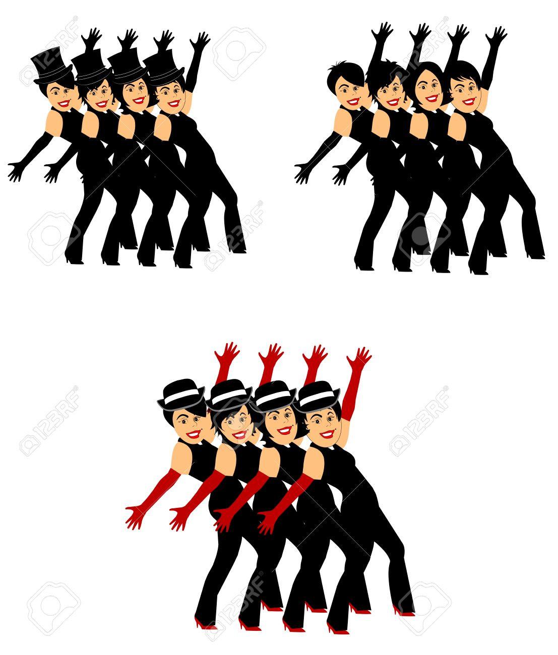 1107x1300 Clip Art Line Dancing Girl Hit Toon Dance Stunning