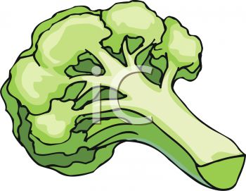 350x271 Picture Of A Stalk Of Fresh Broccoli In A Vctor Clip Art