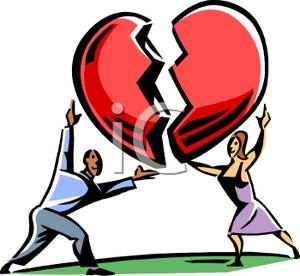 300x276 Clip Art Man And Woman Putting Together A Broken Heart Clipart