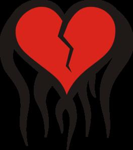 264x298 Broken Heart Clip Art