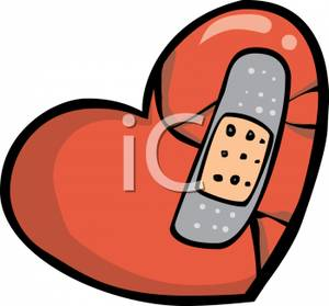 300x279 Broken Heart Clipart Bandaid Clipart Free Collection Download