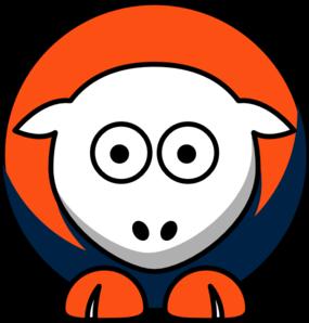 285x298 Sheep 3 Toned Denver Broncos Team Colors Clip Art