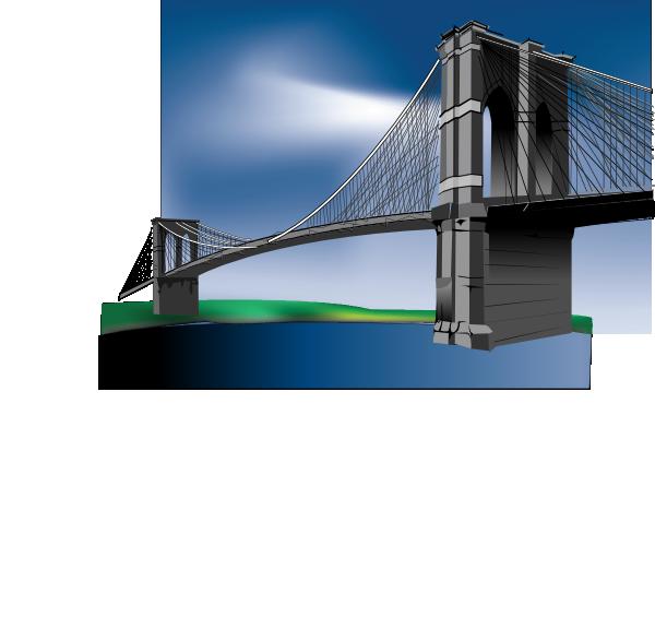 600x587 Brooklyn Bridge (Edited) Clip Art