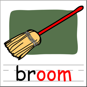304x304 Clip Art Basic Words Oom Phonics Broom Color I