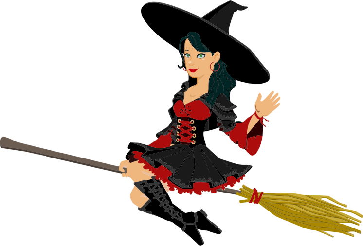 746x506 Collection Of Witch Riding Broom Clipart High Quality, Free