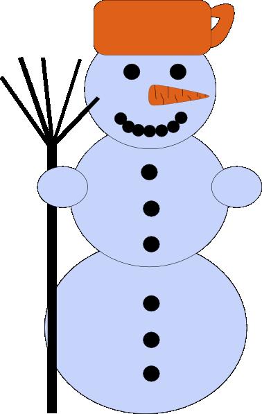 378x597 Snowman With Broom Clip Art Free Vector 4vector