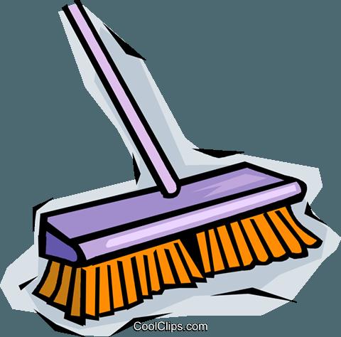 480x474 Broom Royalty Free Vector Clip Art Illustration Vc014072