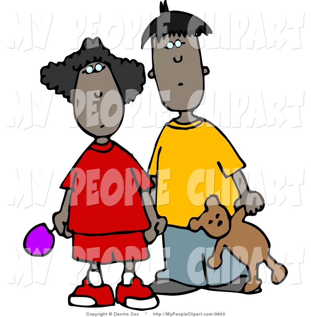 1024x1044 Clip Art Of A Black Brother And Sister Standing Together By Djart
