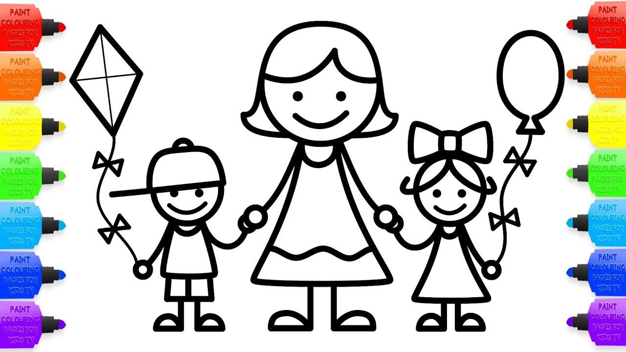 1280x720 Coloring Pages Brothers And Sisters