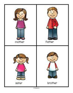 236x303 Family Flashcards Sister, Brother, Dad, Mum, Grandma, Grandpa