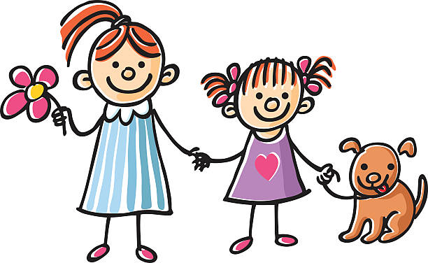 612x376 Pictures Cartoon Sisters Holding Hands,